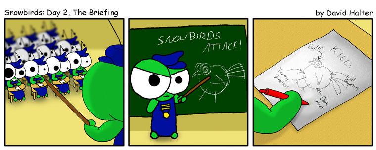Snowbirds: Day 2, The Briefing