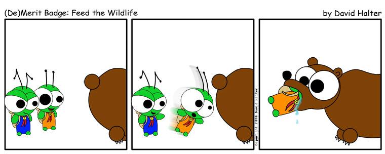 (De)Merit Badge: Feed the Wildlife